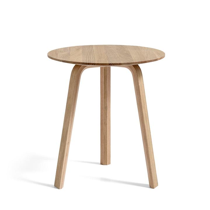 Bella Side table Ø 45 cm / H 49 cm, oak matt lacquered by Hay