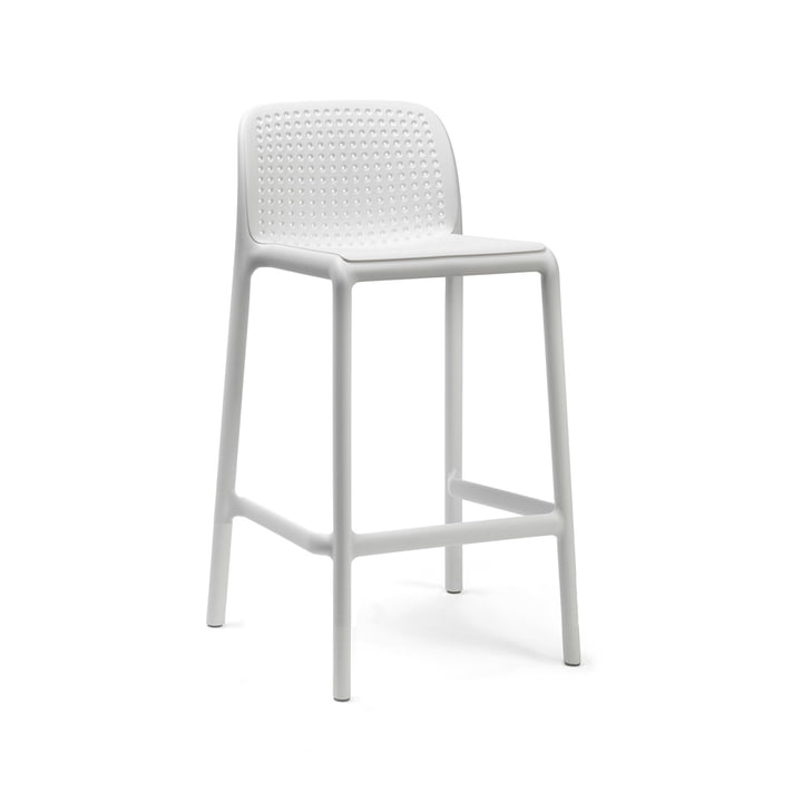 Lido Mini bar chair, white by Nardi