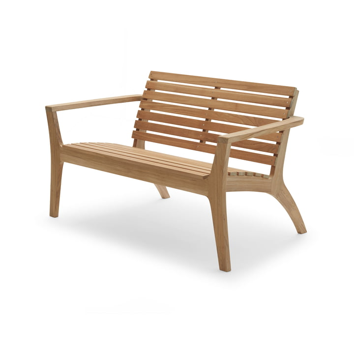 Regatta Lounge Bank, teak from Skagerak