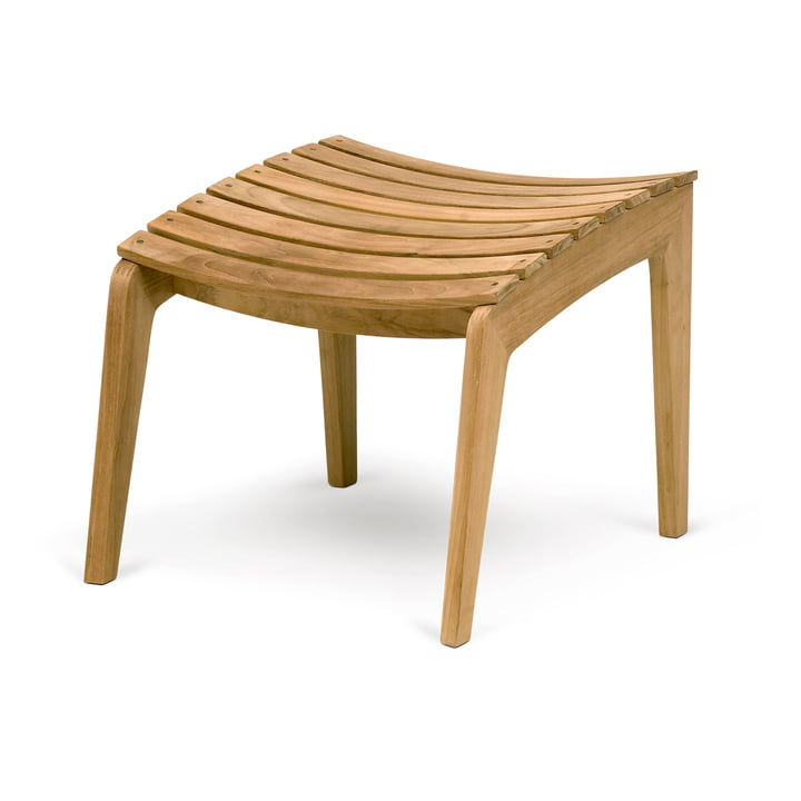 Regatta Lounge Stool, teak from Skagerak