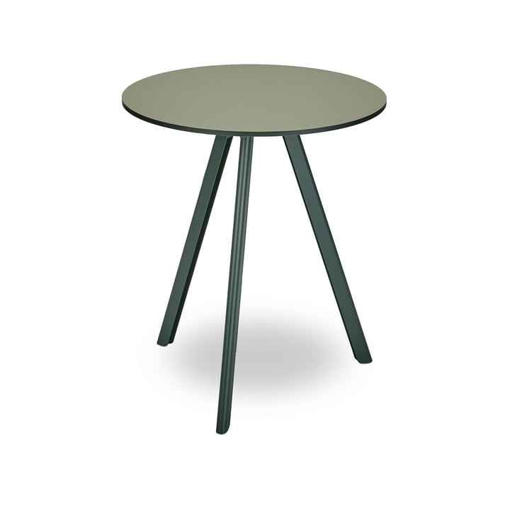 Overlap table Ø 62 cm from Skagerak in hunting green