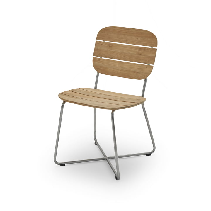 Lilium chair, teak / stainless steel by Skagerak