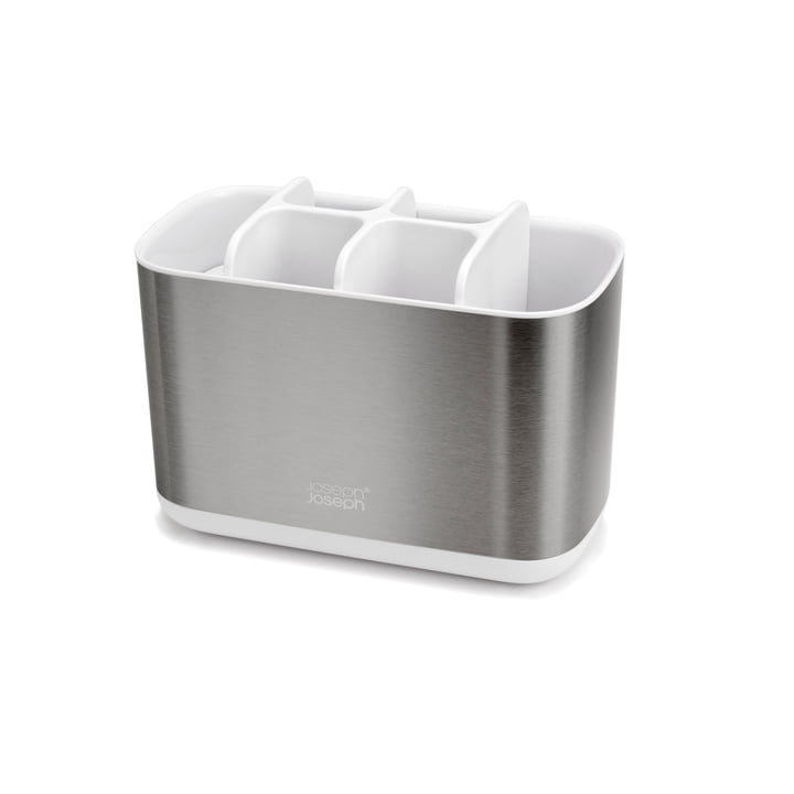 EasyStore Steel Toothbrush holder, large / white from Joseph Joseph