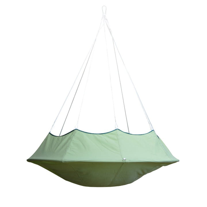 Lullio Single Hanging chair from Cacoon in leaf green