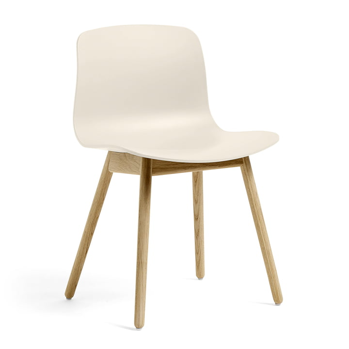 About A Chair AAC 12 by Hay in matt lacquered oak / cream white