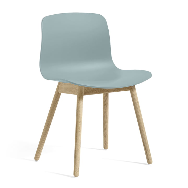 About A Chair AAC 12 by Hay in soaped oak / dusty blue