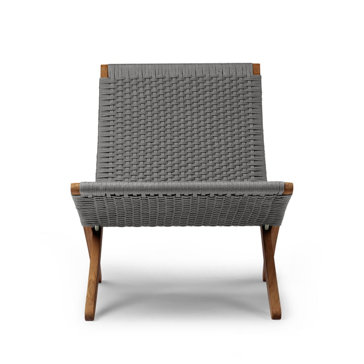 MG501 Cuba Chair Outdoor by Carl Hansen in teak oiled / anthracite