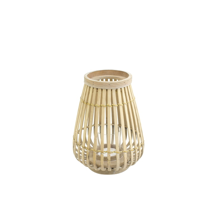 Bamboo lantern in nature, 26 cm