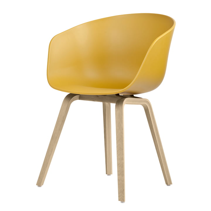 About A Chair AAC 22 by Hay in oak matt lacquered / mustard