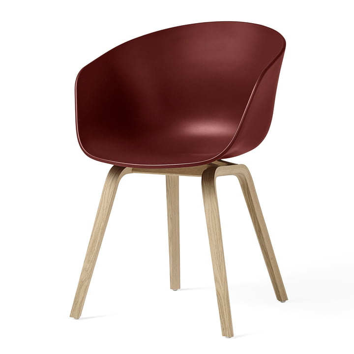 About A Chair AAC 22 by Hay in matt lacquered oak / brick