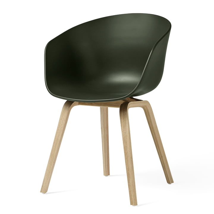 About A Chair AAC 22 from Hay in oak matt lacquered / green