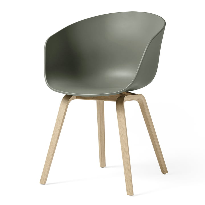 About A Chair AAC 22 by Hay in matt lacquered oak / dusty green