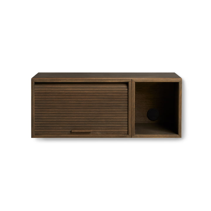 Hifive Slim 75 Wall cabinet of Northern smoked in oak
