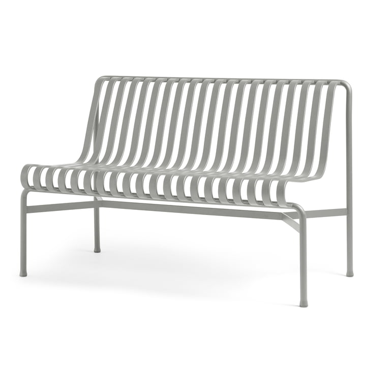 Palissade Dining Bench without armrests from Hay in sky grey