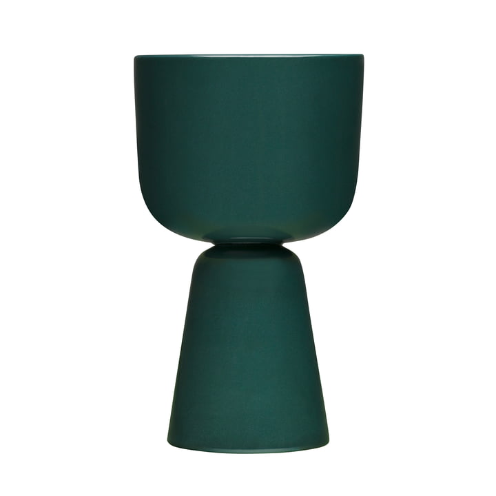 Nappula flowerpot 260 x 155 mm from Iittala in dark green