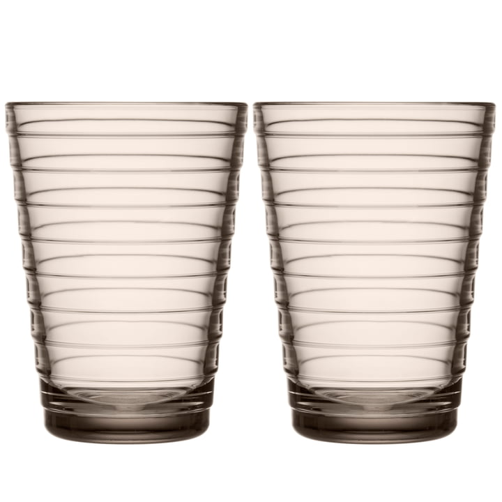 Aino Aalto Long drink glass 33 cl from Iittala in linen (set of 2)