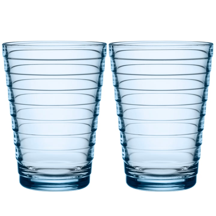 Aino Aalto Long drink glass 33 cl from Iittala in aqua (set of 2)