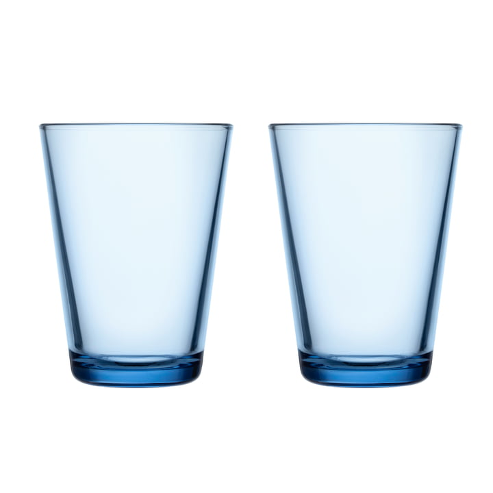 Kartio Drinking glass 40 cl from Iittala in aqua (set of 2)