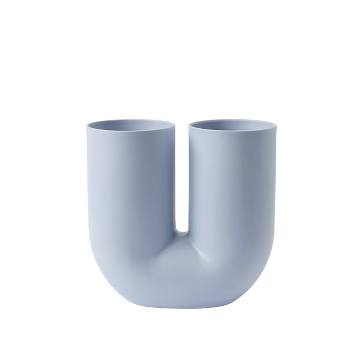 Kink Vase by Muuto in light blue