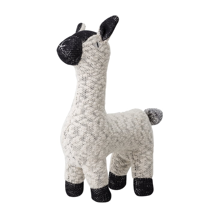 Cuddly toy alpaca from Bloomingville in white / black