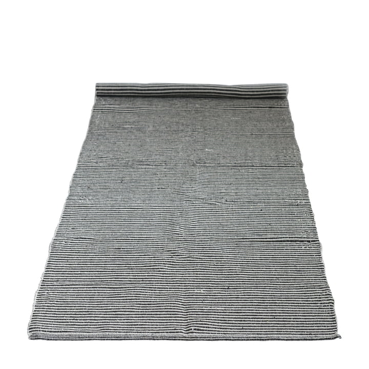 carpet with pattern 240 x 75 cm from Bloomingville in black