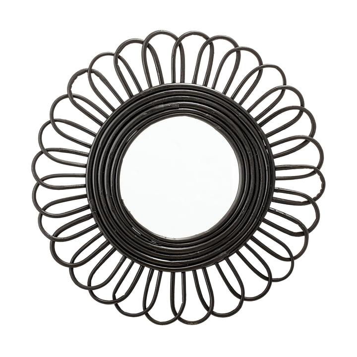 Mirror braided Ø 48 cm from Bloomingville in black