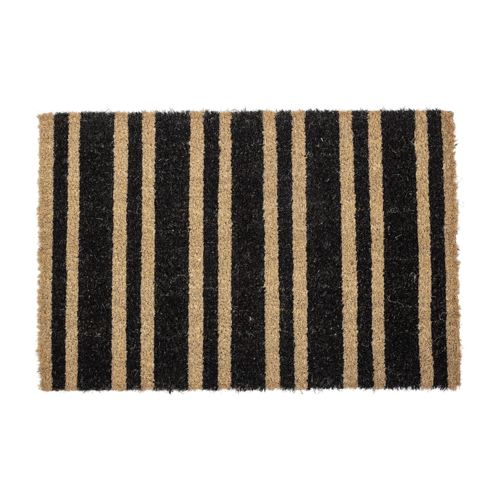 Doormat striped from Bloomingville in black / natural