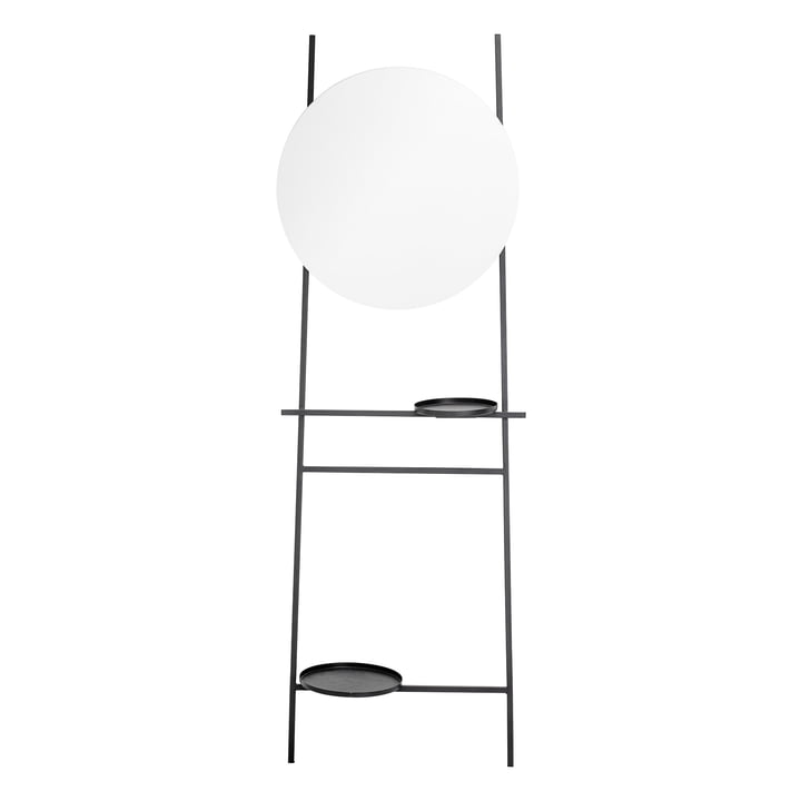 Cesar mirror with storage compartments from Bloomingville in black
