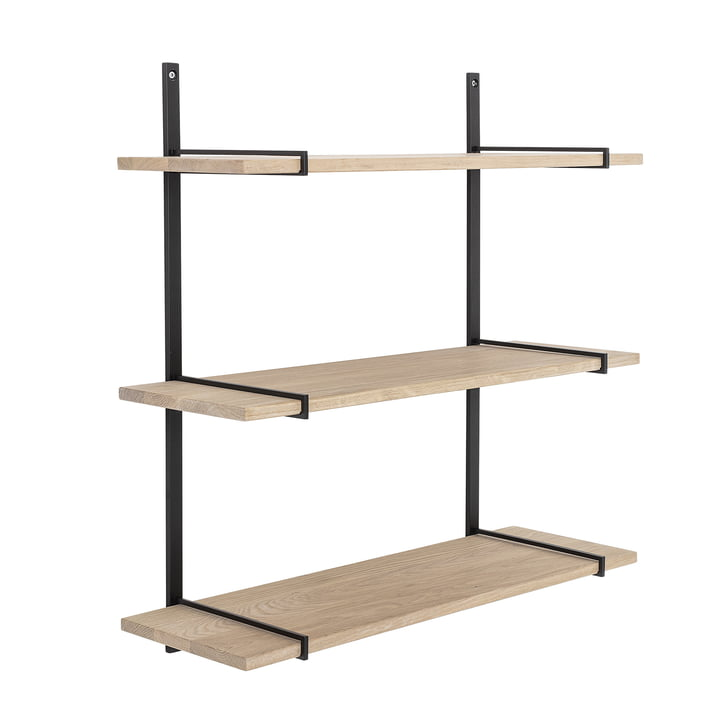 Floyd wall shelf from Bloomingville in oak / black