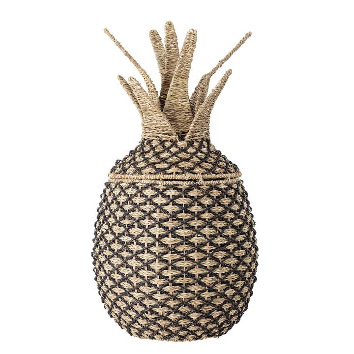 Storage basket pineapple from Bloomingville in nature / black