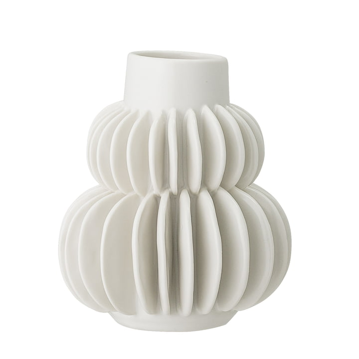 earthenware vase Ø 11,5 x 14 cm from Bloomingville in white