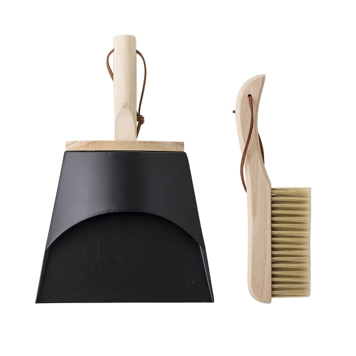dustpan and hand brush from Bloomingville in beech / black
