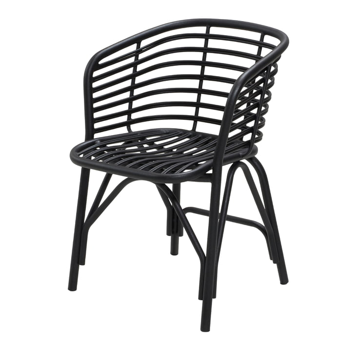 Blend armchair Outdoor, lava grey by Cane-line