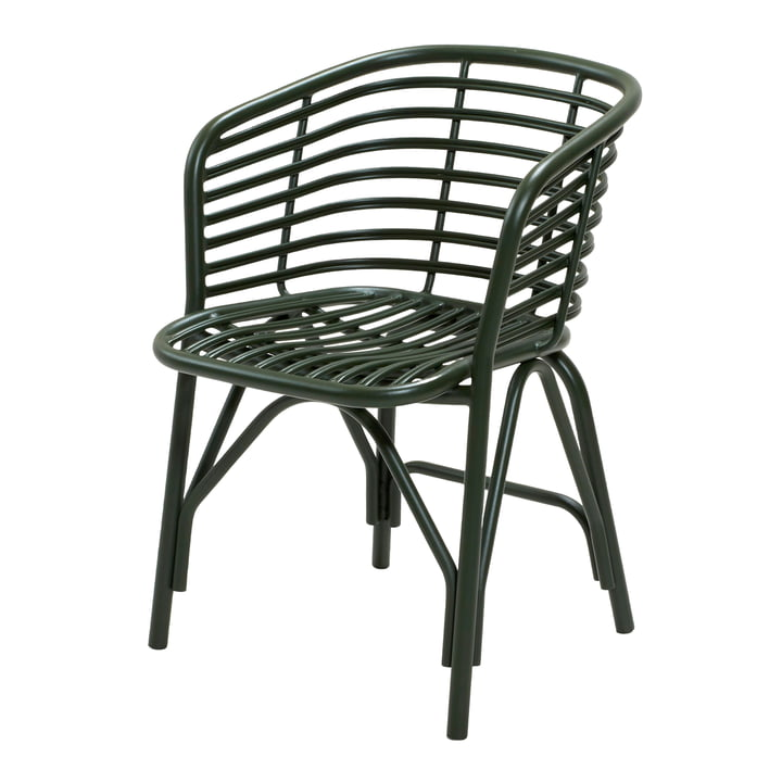 Blend armchair Outdoor, dark green by Cane-line