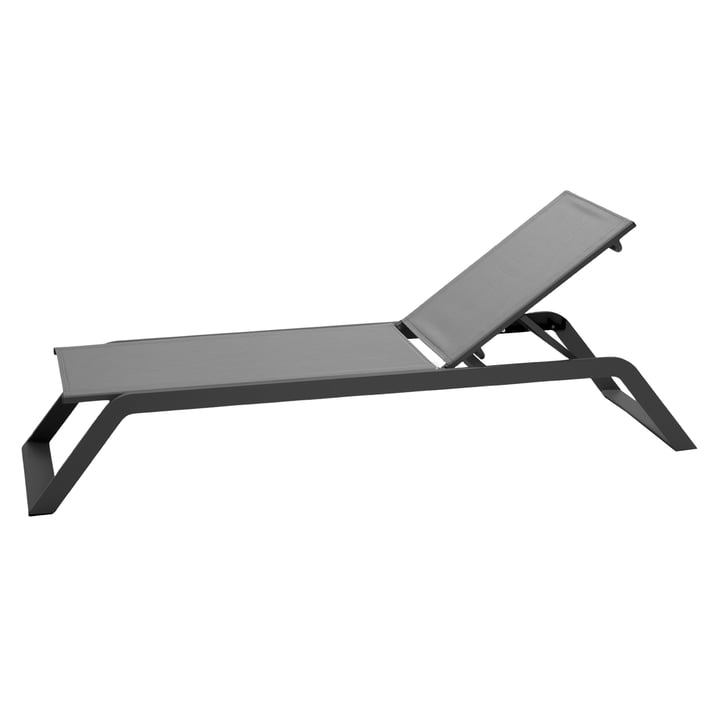 Siesta sun lounger, grey by Cane-line