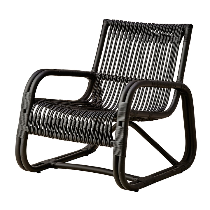 Curve Lounge chair Indoor, black by Cane-line