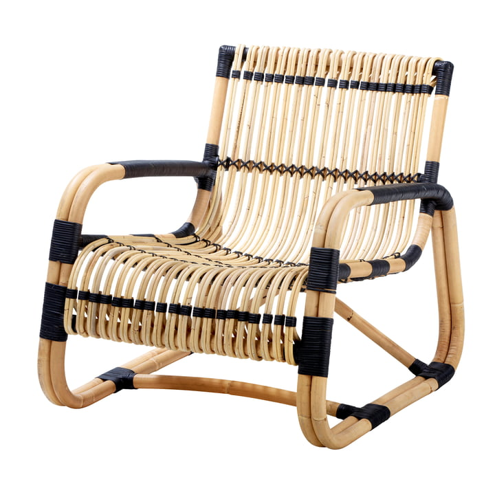 Curve Lounge chair indoor, natural / black from Cane-line