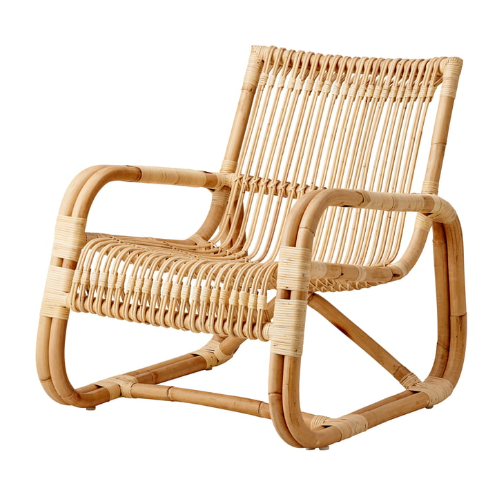 Curve Lounge chair indoor, nature from Cane-line
