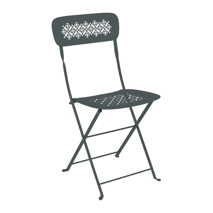 Lorette Folding chair, thundery grey by Fermob