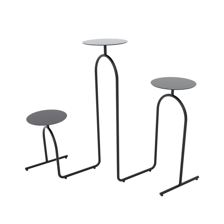 Hiatus Flower column / side table from AYTM in black