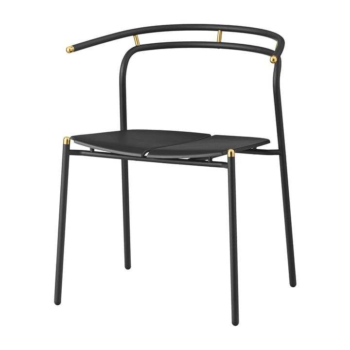 Novo chair from AYTM in black / gold