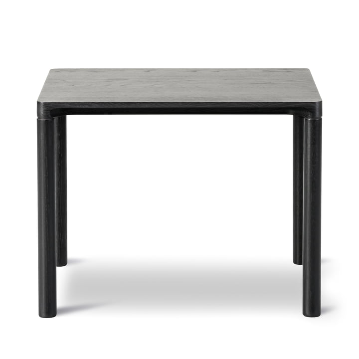 Piloti Sofa table 39 x 46,5 cm by Fredericia in black lacquered oak