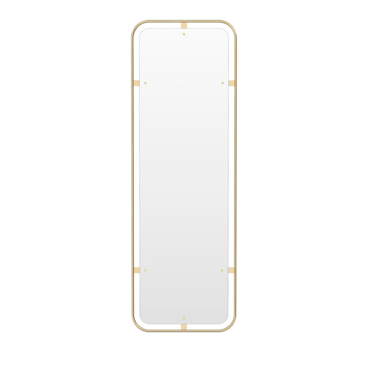 Nimbus mirror upright, brass polished by Menu