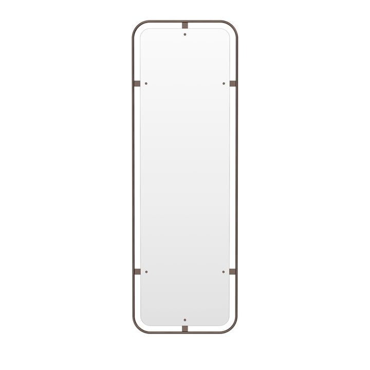 Nimbus mirror upright, brass burnished by Menu