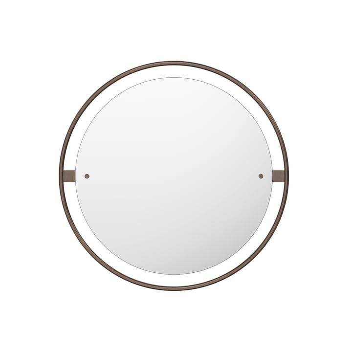 Nimbus mirror Ø 60 cm, brass burnished by Menu