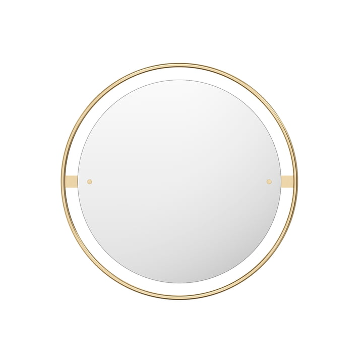 Nimbus mirror Ø 60 cm, brass polished by Menu