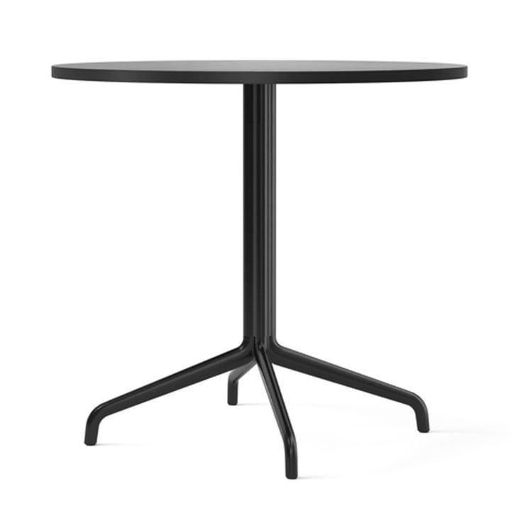 Harbour Column bistro table Ø 80 cm, four-legged, oak black lacquered / black from Menu