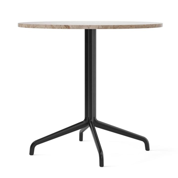 Harbour Column bistro table Ø 80 cm, four-legged, marble Kunis Breccia / black from Menu
