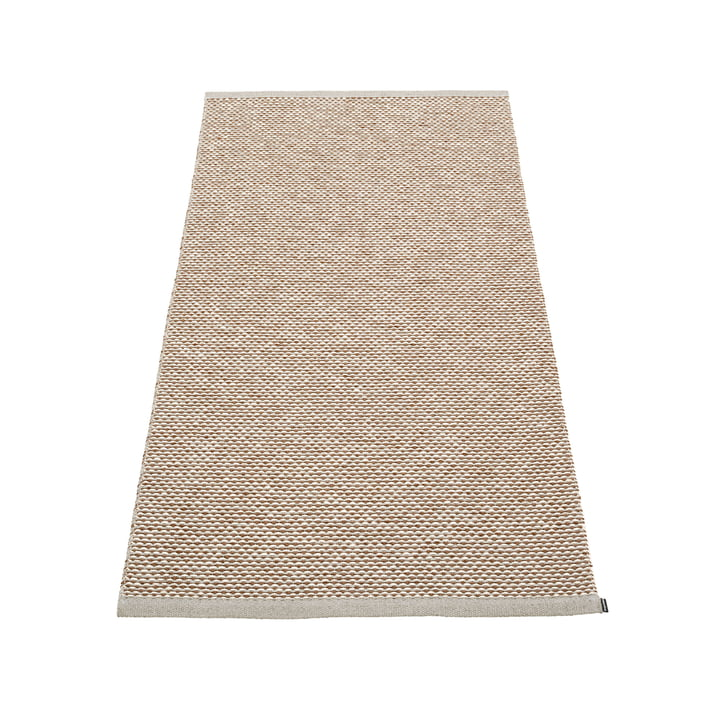 Effi carpet 85 x 160 cm from Pappelina in warm grey / brown / vanilla