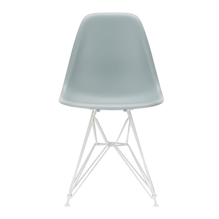 Vitra - Eames Plastic Side Chair DSR, white / light grey (felt glides white)